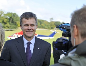 Statoil CEO Helge Lund being interviewed